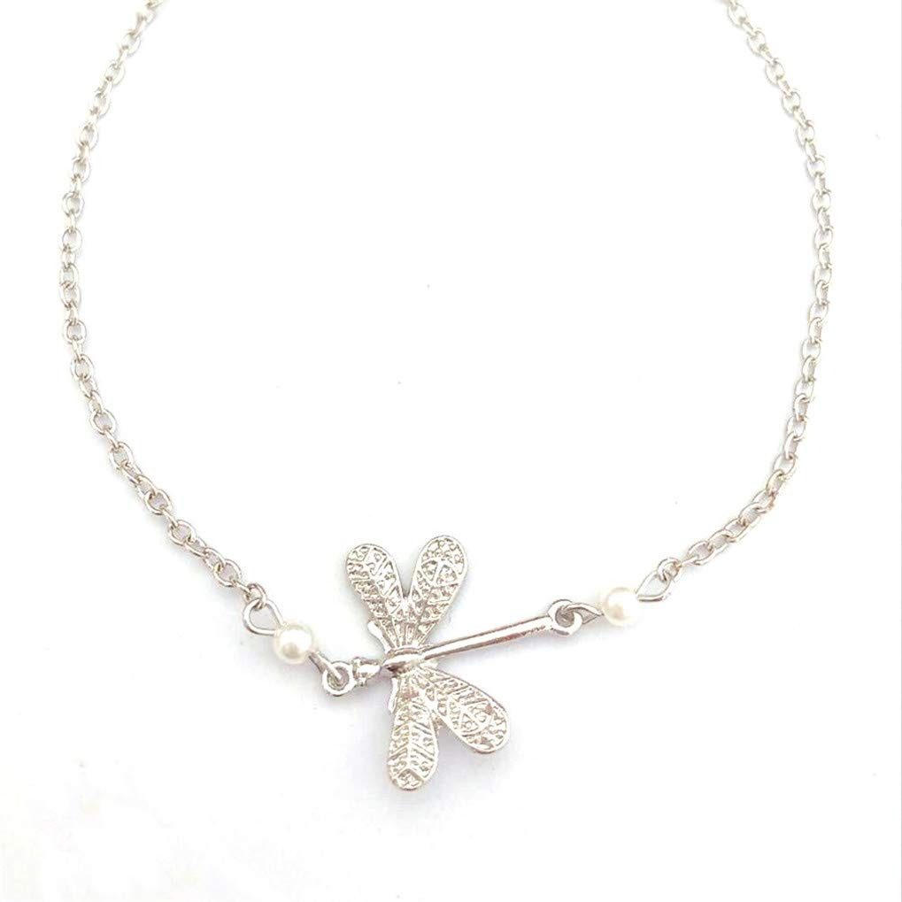 Eleusine Dragonfly Anklets for Women Animal Bracelets On The Leg Vintage Silver Color Foot Jewelry Accessories