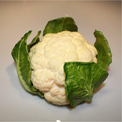 Kunstgemüse Blumenkohl, weiß - grün, 10,5 cm, Ø 18 cm - Künstliches Obst / Deko Gemüse - artplants