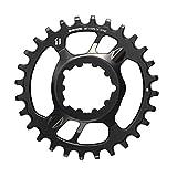 SRAM X-Sync - Anillo de Acero para Cadena de Bicicleta (28 Dientes, 6 mm), Color Negro