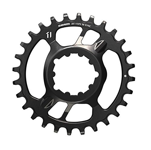 SRAM X-Sync Steel Direct Mount Chain Ring 28 Teeth 6mm Offset, Black by SRAM