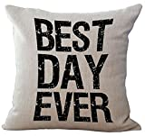 Wisdom Words Printed Stuffed Cushion LivebyCare Linen Cotton Cover Filling Stuffing Throw Pillow Insert Filler Pattern Zipper For Teen Boy Girl Kid Children Bedroom