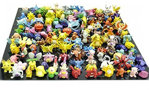 Price comparison product image RioRand Pokemon Action Figures, 144-Piece and 1.5-2.5 (cm)
