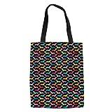 SANNOVO Dachshund Dog Canvas Tote Bag Grocery Shopping Bag Shoulder Bag for Girls Students