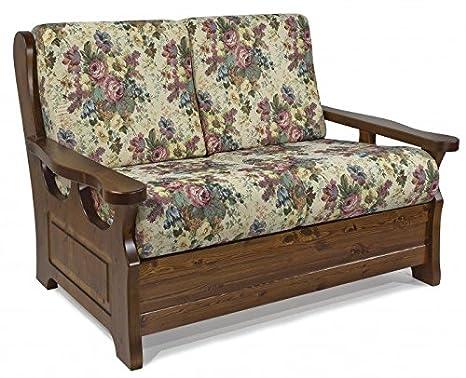 Divano Rustico Due Posti : Arredamenti rustici divano rustico posti finitura noce gobelin