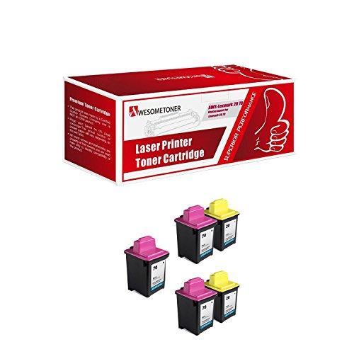 Cartridge Remanufactured Black 12a1970 Inkjet (Awesometoner Remanufactured Ink Cartridge Replacement for Lexmark 70 12A1970 x3 and Lexmark 20 15M0120 x2 (3 Black 2 Color))