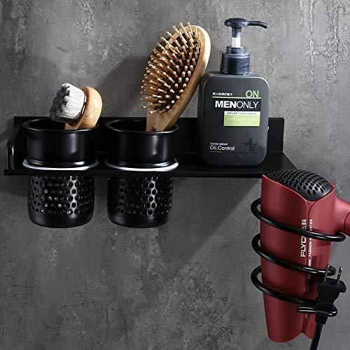 ZHAOLV Support de s/èche-Cheveux S/échoir /à Cheveux Noir avec Coupe s/échoir /à Cheveux M/énage Rack Support de s/échoir /à Cheveux /étag/ère en Aluminium Accessoires de Salle de Bain Color : Y