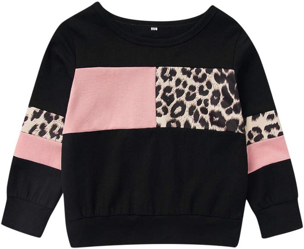 XXYsm Baby M/ädchen Jungen Unisex Pullover Fr/ühling Langarm Leopardenmuster Patchwork Sweatshirt S/äugling Kleinkind Oberteile Tops