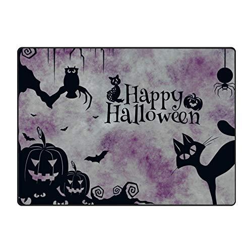 Starfactr Happy Halloween Cat Pumkins Clipart Doormat Rubber Home Decor Carpet Indoor Rectangle Floor Mat Kitchen Rug Runner