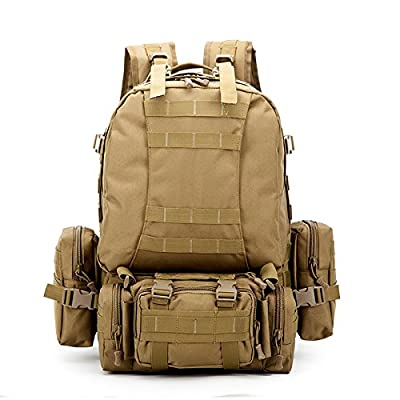 Crazy Ants Tactical Military Backpack Rucksacks Camping Backpack w/ EMT First Aid IFAK Utility Pouch,Upgraded Version