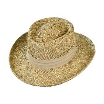 ff88b777 Jaxon Pebble Beach Seagrass Straw Gambler Hat at Amazon Men's ...