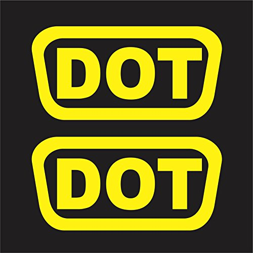 2 DOT HELMET DECALS STICKER PACK SHIPPING CYCLE (Yellow)