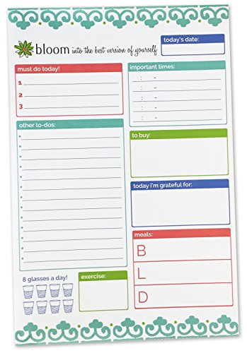 bloom daily planners Planning System Tear Off To Do Pad - Teal Daily Planner To Do Pad 6 x 9