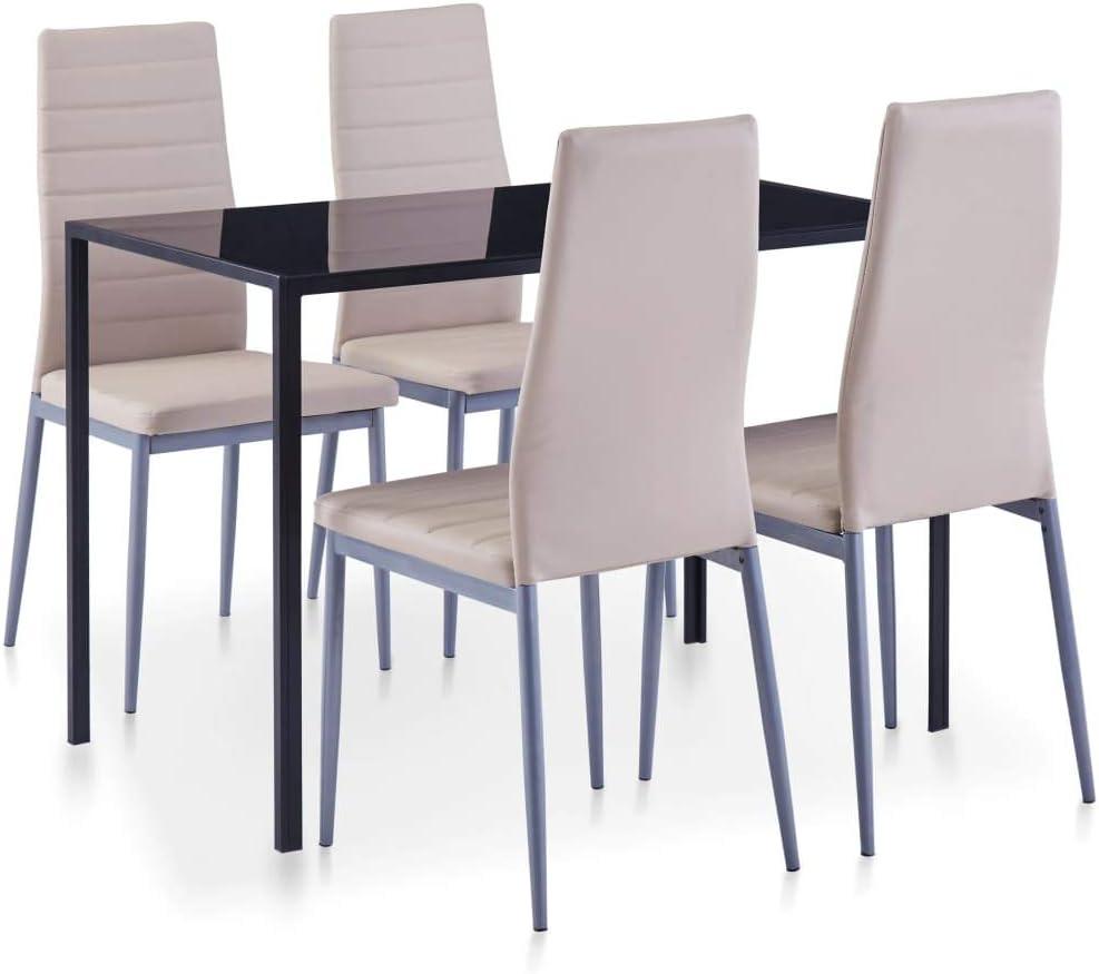 vidaXL - Juego de Mesa (5 Piezas) Juego de Mesa y sillas de Comedor, Mesa de Comedor, Mesa de Comedor, Mesa de Comedor, con 4 sillas, Color marrón Cappuccino: Amazon.es: Juguetes y juegos