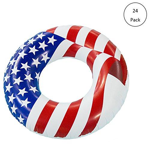 "Swimline 36"" Inflatable American Flag Swimming Pool & Lak..."