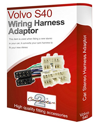 Volvo S40 radio stereo wiring harness adapter lead loom: Amazon.co.uk: Electronics