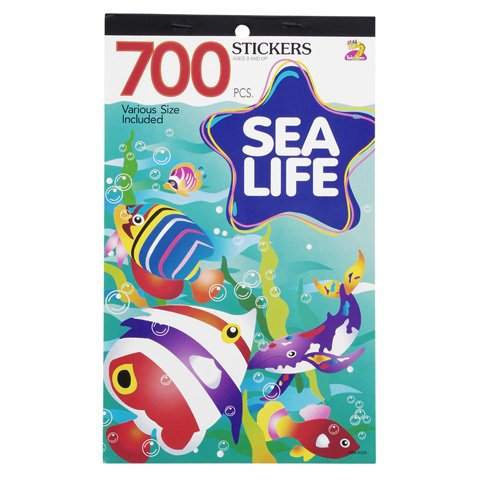 3 BOOKS of SEA LIFE Mini STICKERS - Starfish DOLPHIN Tropical FISH Ocean ANIMALS (2100 total stickers) Kid's (Fish For Kids)