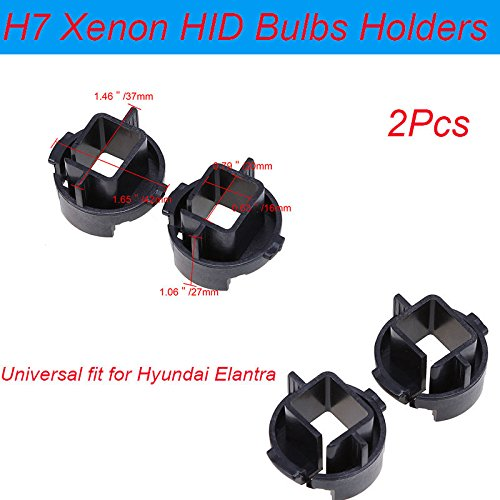 Ronben H7 HID Headlamps Xenon Bulbs Socket Adapters Conversion Base Fit Hyundai Elantra,Pack of 2