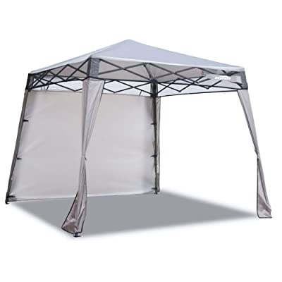 EzyFast Elegant Pop Up Beach Shelter, Compact Instant Canopy Tent, Patented Portable Sports Cabana, 7.5 x 7.5 ft Base / 6 x 6 ft top for Hiking, Camping, Fishing, Picnic, Family Outings (Khaki): Sports & Outdoors