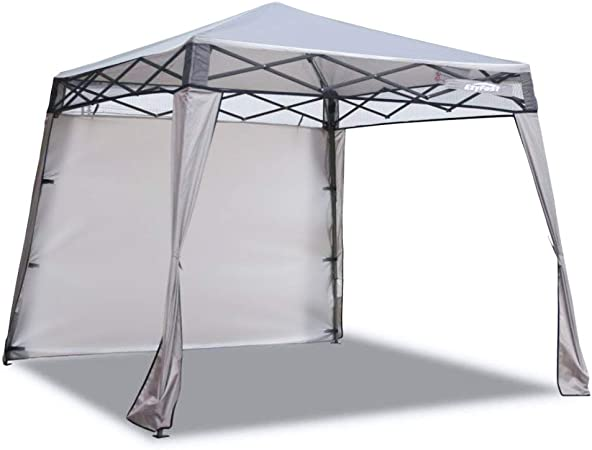 Amazon Com Ezyfast Elegant Pop Up Beach Shelter Compact Instant Canopy Tent Patented Portable Sports Cabana 7 5 X 7 5 Ft Base 6 X 6 Ft Top For Hiking Camping Fishing Picnic