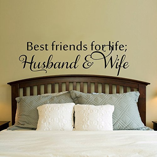 Best Friends for Life, Husband and Wife Cute Bedroom Decorative Vinyl Wall Decal Sticker Art Best Friends Wall