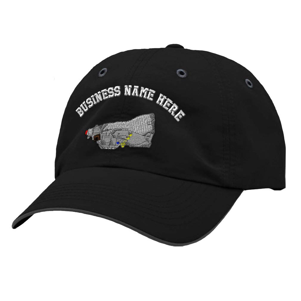 Custom Richardson Running Cap Transmition Embroidery Business Name Polyester Hat