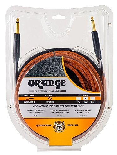 Orange Professional Cable - 20, Orange, Straight