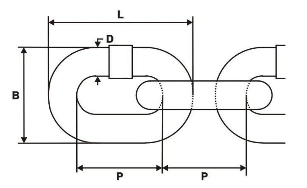 20m cha/îne en acier galvanis/é 5mm lien longue C2