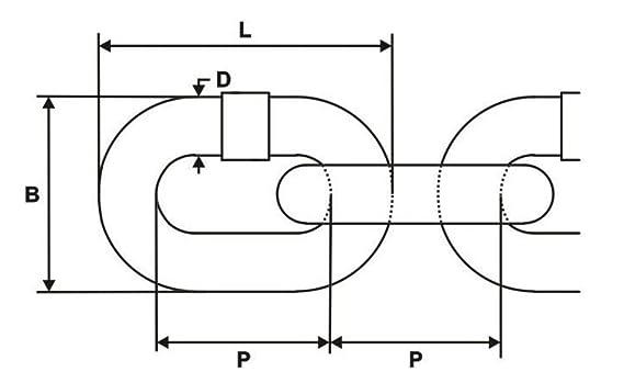 5m Stahlkette verzinkt 4mm Rundstahlkette kurzgliedrig A1 DQ-PP