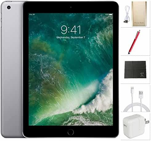 Apple iPad Wifi Tablet MP2F2LL/A 9,7 inch - 32GB, Space Grey + USA Warehouses Accessories Bundle * Latest 2017 model *