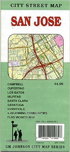 San Jose City Street map California GM Johnson 9781926532004