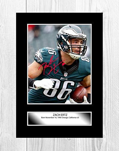 Engravia Digital Zach Ertz (2) Philadelphia Eagles NFL Reproduction Signature Poster Photo A4 Print(Unframed)