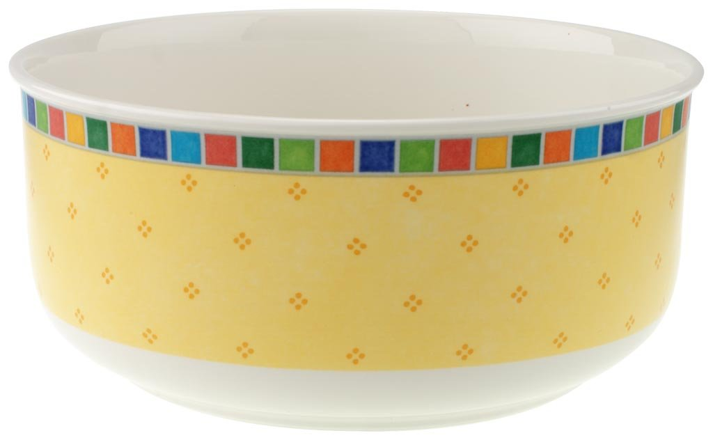 Twist Alea Limone Round Vegetable Bowl by Villeroy & Boch - Premium Porcelain - Dishwasher and Microwave Safe - 9 Inches