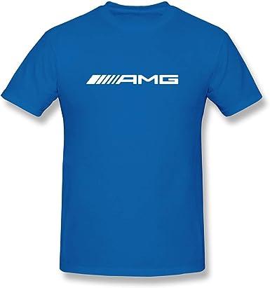 Camiseta con Cuello Redondo y Logo AMG de Mercedes-Benz para Hombre: Amazon.es: Ropa y accesorios