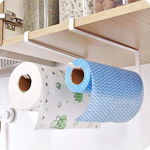 Hakazhi Inc Storage Holders & Racks - Creative Wall Mounted Iron Kitchen Towel Storage Holder Bathroom Wall Rack Toilet Roll Paper Towel Rack Scouring Pad Organizer (Amanda Cabinet Wall)
