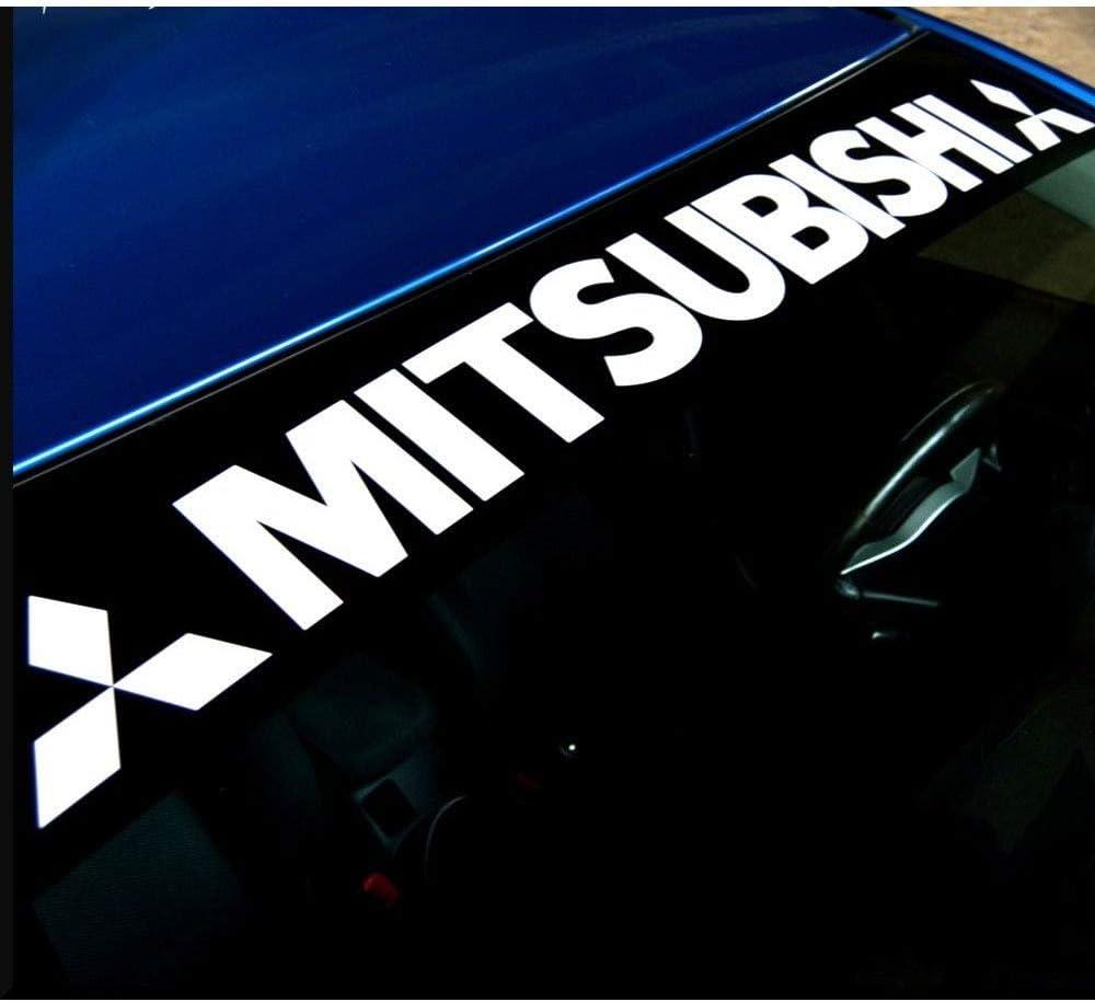 luluda for Mitsubishi Windshield Decal Vinyl Sticker Custom Graphic Logo EVO 8 X Eclipse