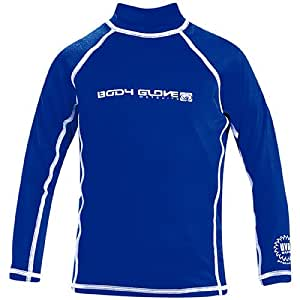 Body Glove Junior Basic Long Sleeve Lycra Rashguard Kids 14 5'-5'3 90Lbs