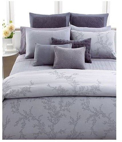 Vera Wang Trailing Vines Jacquard Duvet Cover, Queen