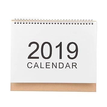 Calendario de escritorio 2019 diario planificador de mesa agenda anual, color L