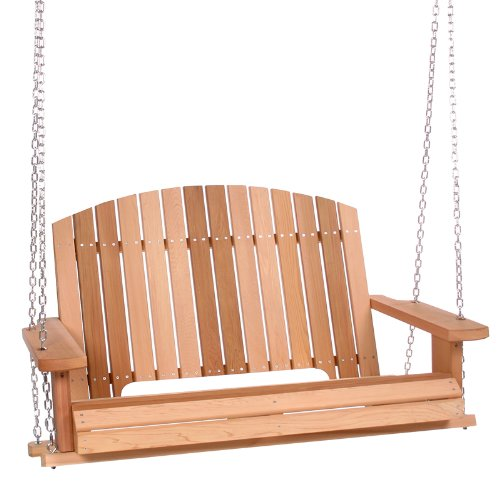 All Things Cedar Adirondack Swing, (Cedar Clear Swing)