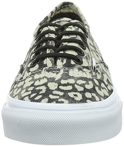 Vans Authentic Adults' Noir Low Unisex Trainers Black Slim Black Top Leopard S4U4q1