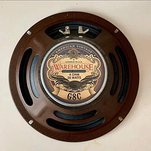 """Warehouse Guitar Speakers G8C 8"""" 20W American Vintage Guitar Speaker 4 ohms"""