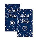 Navy Star Party Scratch Off Game Set Abstract Baby Shower, Wedding or Birthday