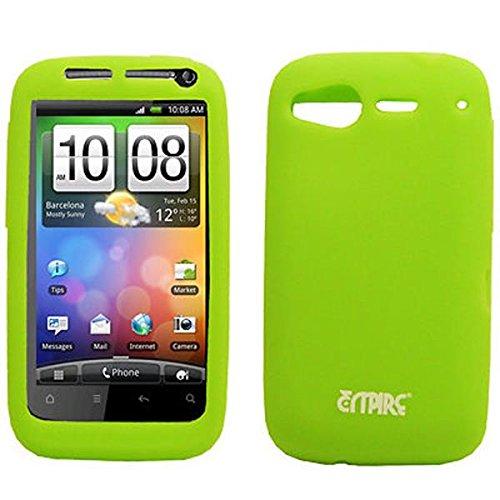 EMPIRE Neon Grün Silicone Skin Case Tasche Hülle Cover for HTC Desire S