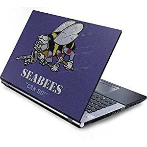 Skinit Seabees Can Do Generic 15in Laptop (13.7in X 9.5in) Skin - Officially Licensed US Navy Laptop Decal - Ultra Thin, Lightweight Vinyl Decal Protection from Skinit