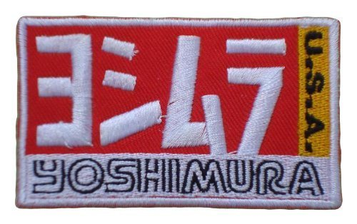 YOSHIMURA USA Exhaust System Motorcycles Bikes MotoGP LabelPY01 Patch Sew Iron on Logo Embroidered Badge Sign Emblem Costume BY Dreamhigh_skyland