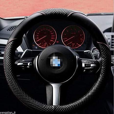 Istn Coprivolante per Auto in Pelle Microfibra 38 cm per la Maggior Parte delle Auto Nero Grigio