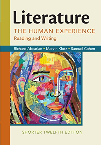 Literature: The Human Experience, Shorter Edition (Literature The Human Experience With 2016 Mla Update)