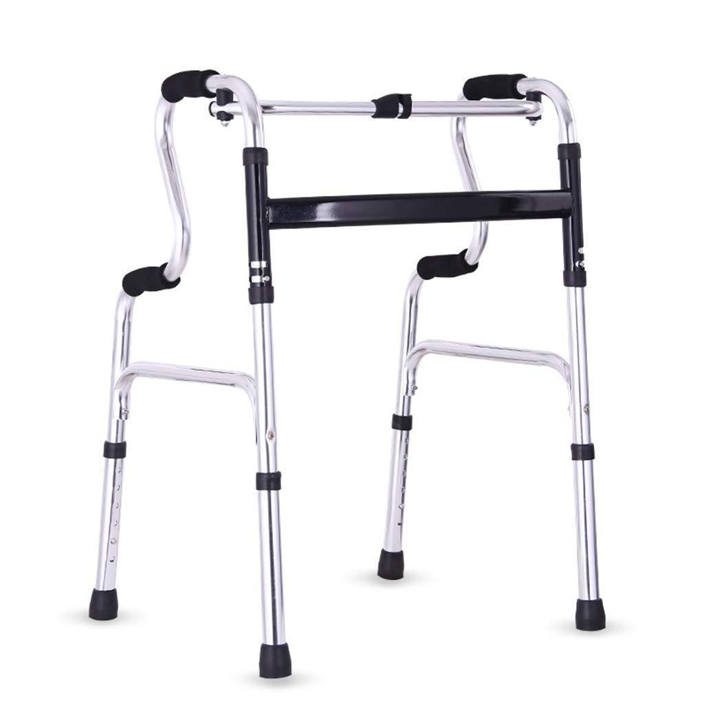 SXD 高齢者のための折りたたみ式歩行器 - 下肢トレーニングのための成人用歩行器 - アルミニウム合金 - 調節可能な高さの携帯用立っている歩行用フレーム、2933インチ   B07TDK9W99