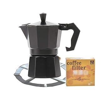 FYHKF Cafeteras Italianas Máquina de café Espresso Moka Pot Cafetera de Moca Cafetera 3 Estilos, 3 Tazas, 120ML (Tamaño : B): Amazon.es: Hogar