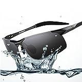 men's sunglasses polarizer sunglasses driving mirror driver-end sports aviation aluminum magnesium sunglasses (Black)